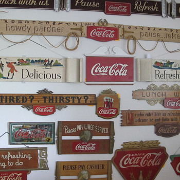 3 Piece Correct Colonial Kay Masonite Festoon - Coca-Cola