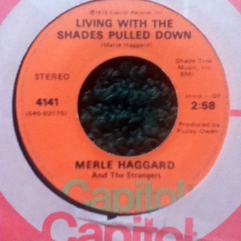 Merle Haggard and the Strangers 45 Record  - Records
