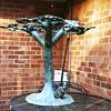 Faux Bois Metal Patina'd Garden table