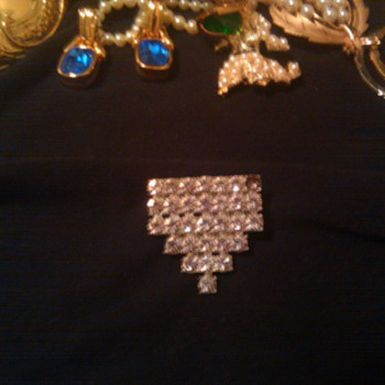 antique crystal brooch - Fine Jewelry