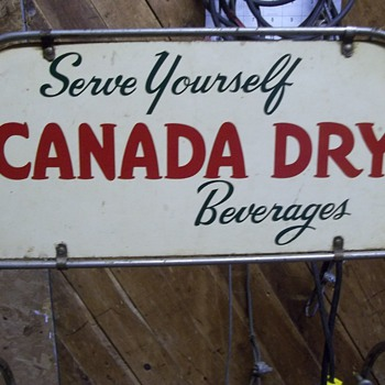 "Canada Dry 50"" Tall Steel Wire Three Level Shelf Rack  - Signs"