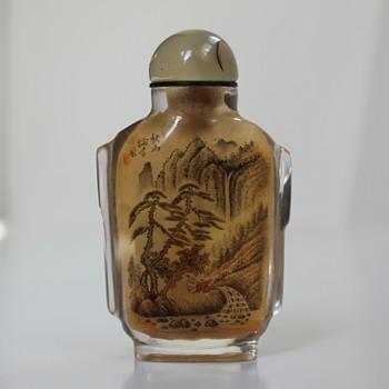 Rock Crystal Inside Painted Snuff Bottle