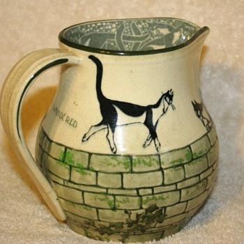 Royal Doulton Souter Cat Pitcher - Pottery