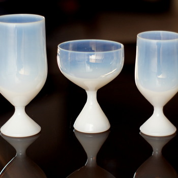 George Nelson for Morgantown 1956 Design - Opalescent Glasses  - Art Glass