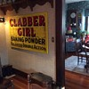 NOS...Embossed Clabber Girl...tin sign...1950's