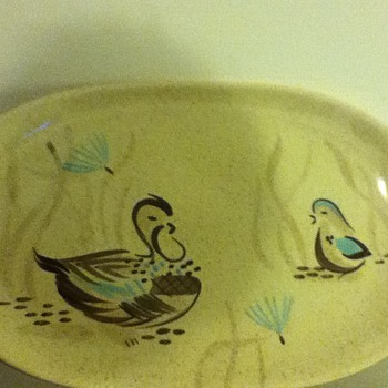 Red Wing Bob White pattern serving dish--childhood fave - China and Dinnerware