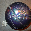 Threaded glass paperweight