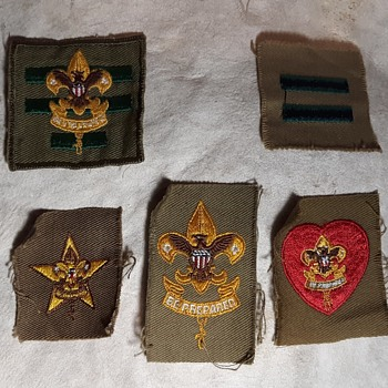 Saturday Evening Scout Post Still More Vintage Rank and Position Patches 1946-1960s - Medals Pins and Badges