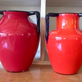 Tango 3-handle vases - Shape variations  - Art Glass
