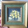 Original oil painting 2/1 inch sq