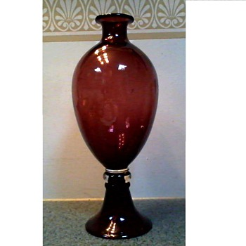 "Amethyst Glass ""Venini Style"" Vase / Unknown Maker and Age - Art Glass"