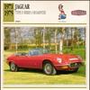 Vintage Car Card - Jaguar Type E Roadster