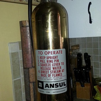 Ansul Brass Fire Extinguisher - Firefighting