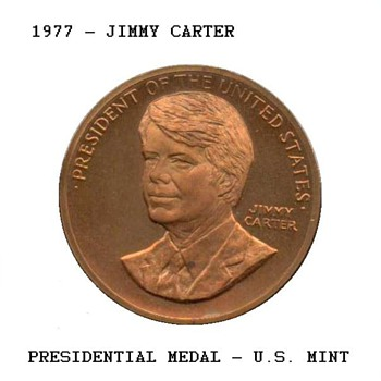 1977 - Jimmy Carter Presidential Medal - US Coins