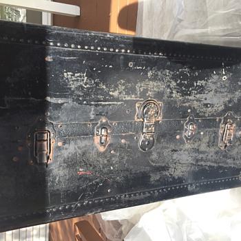 Unknown maker, antique wardrobe trunk - Furniture