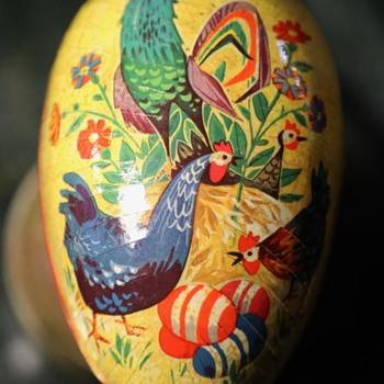 Eggs inside Eggs - Papier Mache Easter Eggs
