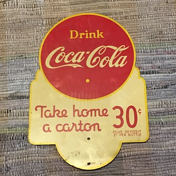 1941 Coca-Cola Double Sided Rack Sign - Coca-Cola