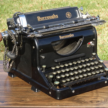 1932 Burroughs Electric Carriage Typewriter