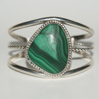 Unmarked Malachite Cuff Bracelet - Fine Jewelry