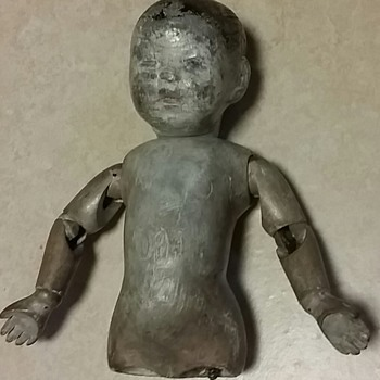 Antique wooden baby doll  - Dolls