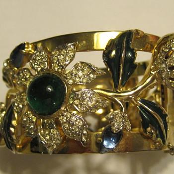 coro cuff bracelet - Costume Jewelry