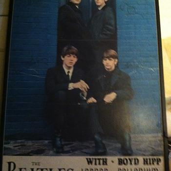 Vintage Beatles poster - Music Memorabilia