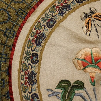 Embroidered Silk Rondel from China - Asian