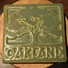 6 inch tile 'OAKLAND' with a great Oak Tree in Relief by Diane Winters