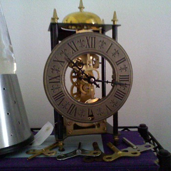 small passing chime skeleton style clock