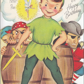 Fairfield Peter Pan Birthday Storybook Greeting Card  - Cards