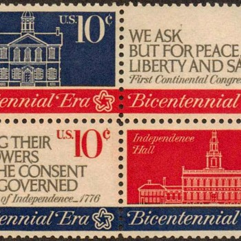 "1974 - ""Continental Congress"" Postage Stamps (US) - Stamps"