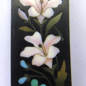 Pietra Dura flower plaque - Fine Jewelry