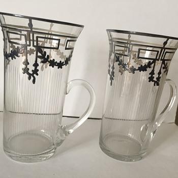 Art Deco Silver ice tea glasses?