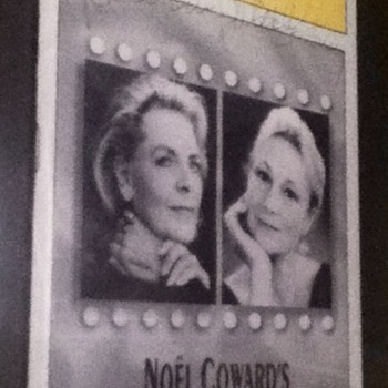Signed Lauren Bacall & Rosemary Harris Playbill - Paper