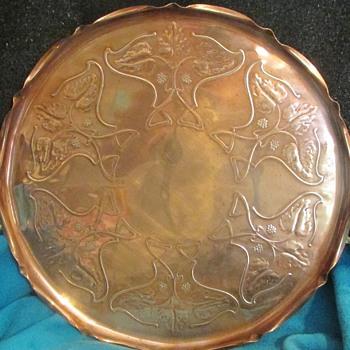 Art Nouveau copper tray by Joseph Sankey - Art Nouveau