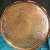 Art Nouveau copper tray by Joseph Sankey