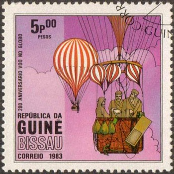 "1983 - Guinea-Bissau ""Balloons"" Postage Stamps - Stamps"