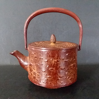 Cherry bark themed cast iron tetsu-kyusu #2 - Asian