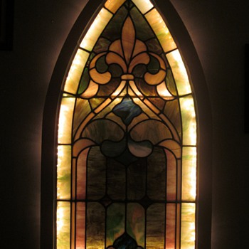 Lighted Gothic Stained Glass Window - Art Glass