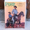 Saturday Evening Post Cover August 19, 1944 Looks Like Johnny West and Son