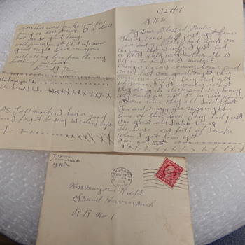 Love Letter 3 of 5 from 1919 - Paper