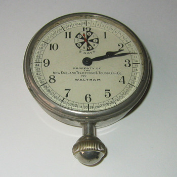 Waltham New England Telephone Clock