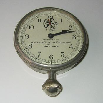 Waltham New England Telephone Clock - Clocks