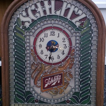 Schlitz Bar Sign with Clock - Breweriana