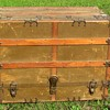 Early 1900's Canvas Flat Top Dresser Trunk