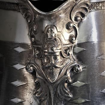 Details on a Meriden Britannia (circa 1867) ice pitcher.... - Silver