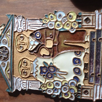 Ceramic Wall Plaque - Pottery