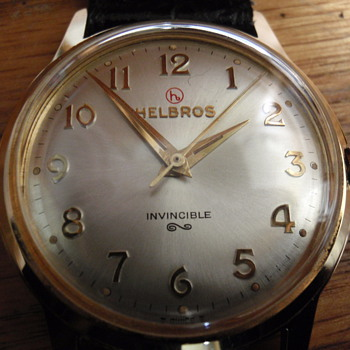 1960 Helbros 17 Jewel embossed logo watch - Wristwatches