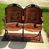 My new obsession....Wooden folding theatre chairs.