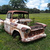 the remains of an old [1956 Chevrolet] pickup truck (#1)